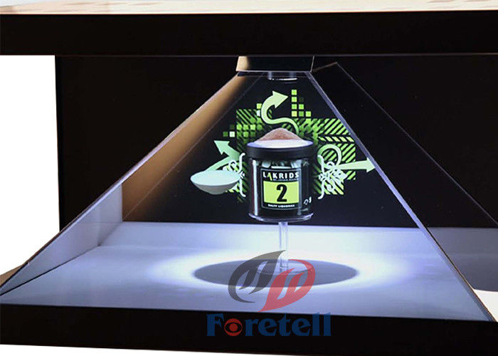 "27"" 3D Holographic Display Showcase LCD Advertising Player High Contrast"