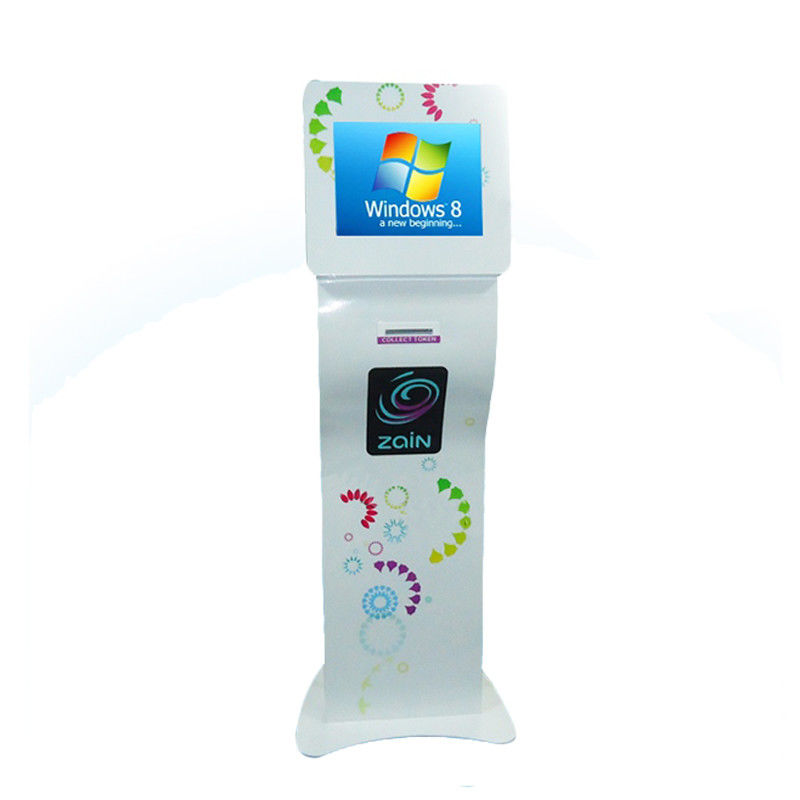 Number Display Queue Calling Machine 15 Inch Vertical Touch Integrated Display